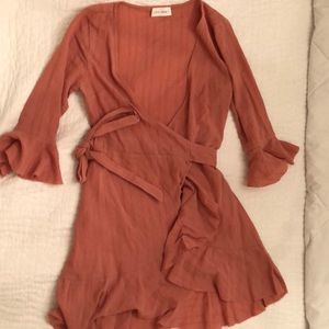 Mauve Mini Wrap Dress